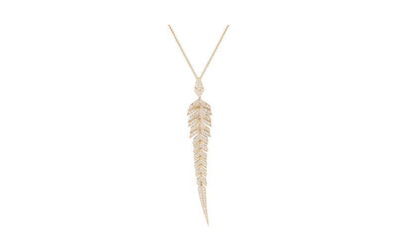 Magnipheasant Pave Pendant in Rose Gold and White Diamonds