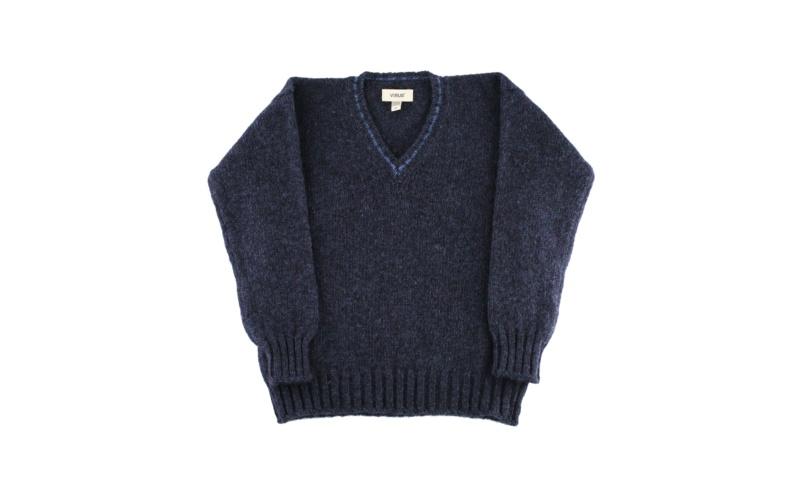 Denim V-Neck Pullover