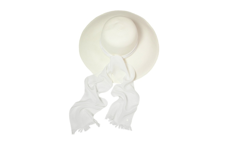 Panama Hat - White scarf