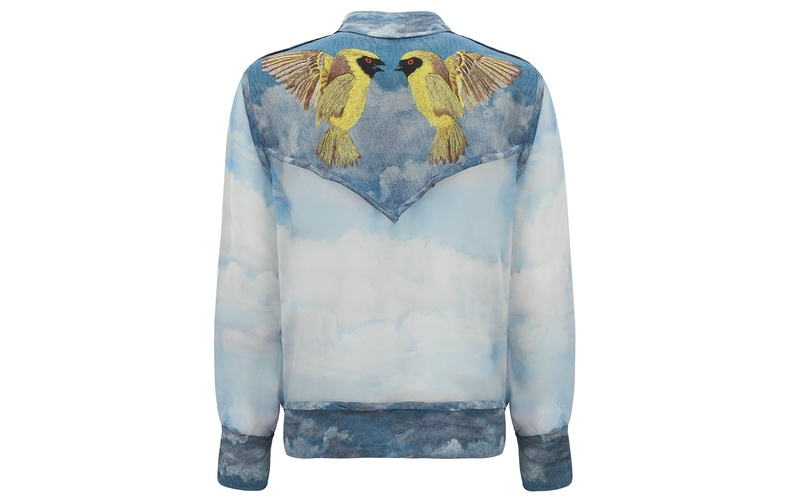 WEAVER BIRD SILK BOMBER