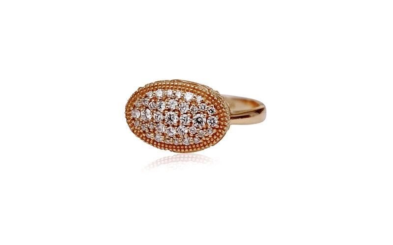 'Little Luca' 18 Carat Rose Gold and Diamond Ring