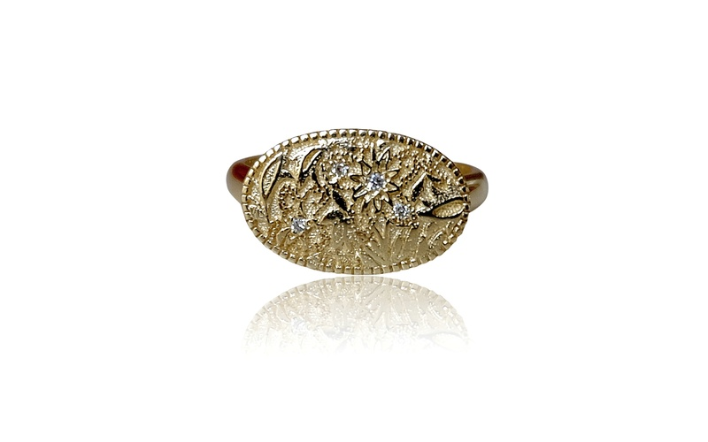 JARDIN FLORAL GOLD BAND