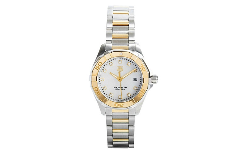 Aquaracer steel, diamond and 18-carat gold watch