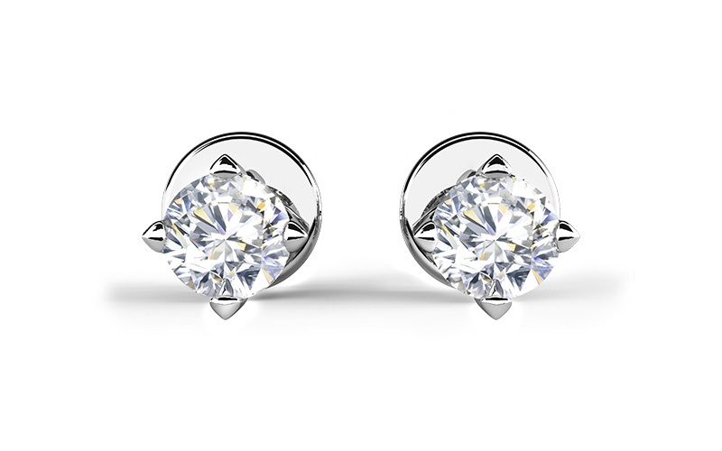 FOREVERMARK SETTING SOLITAIRE STUD EARRINGS