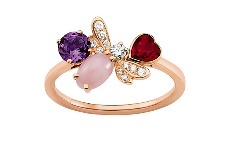 Attrape-moi si tu m'aimes rose gold and diamond ring