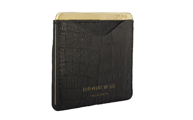 No. 25 Cardholder - Alligator Gold