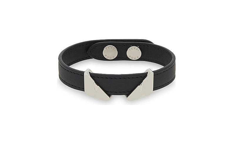 Monster eyes leather bracelet
