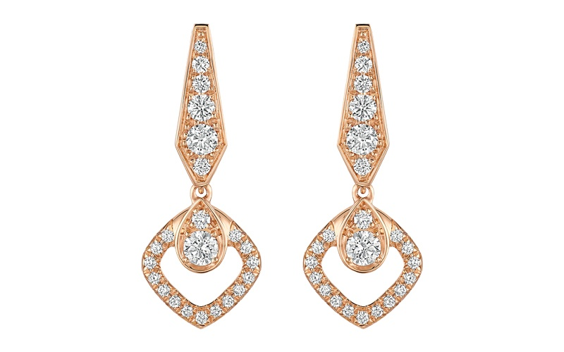 "Joséphine ""Eclat Floral"" Earrings 18 KT Pink Gold"