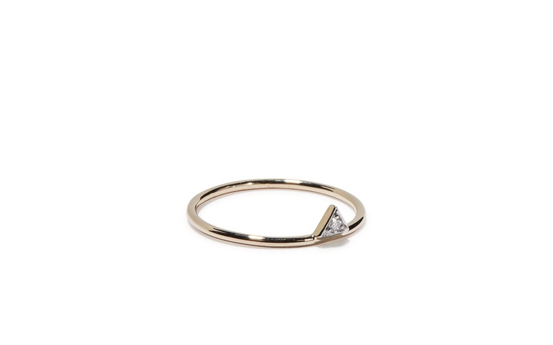 TINY SPARKLE PEAK RING WITH DIAMOND