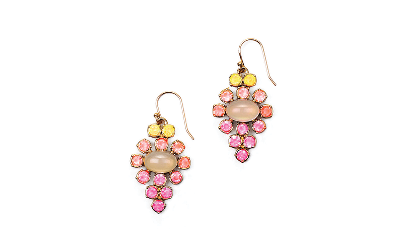 *NEW* HAND-PAINTED EMPRESS EARRING