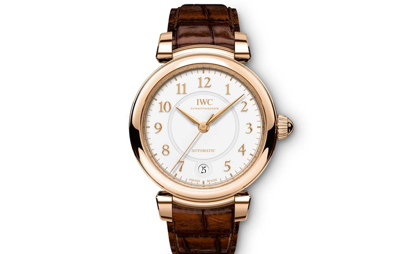 DA VINCI AUTOMATIC 36 18 CARAT RED GOLD WITH BROWN ALLIGATOR STRAP