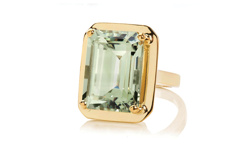 GREEN AMETHYST BLACK MAGIC RING