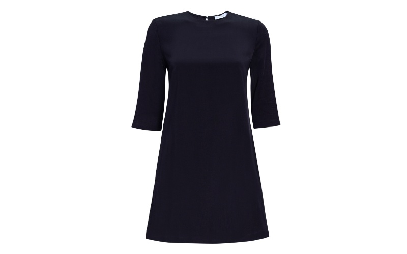 Tencel Box Dress in Black