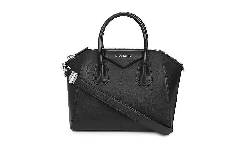 Antigona sugar leather tote black