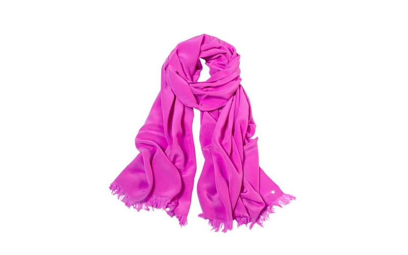 Silk Scarf - Deep Pink