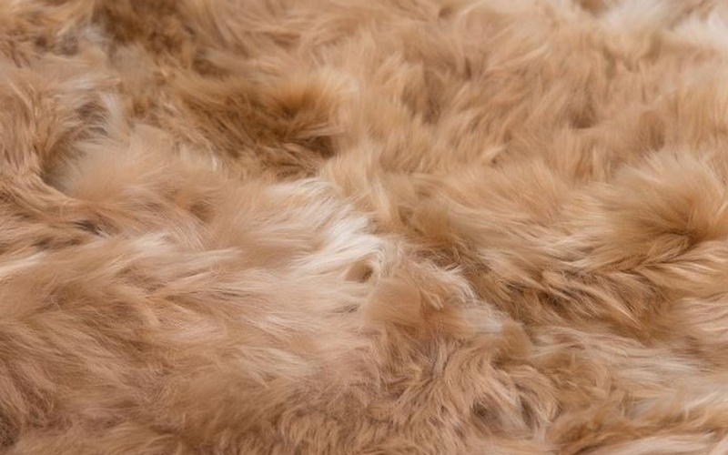 Suri Alpaca Rug - Light Brown