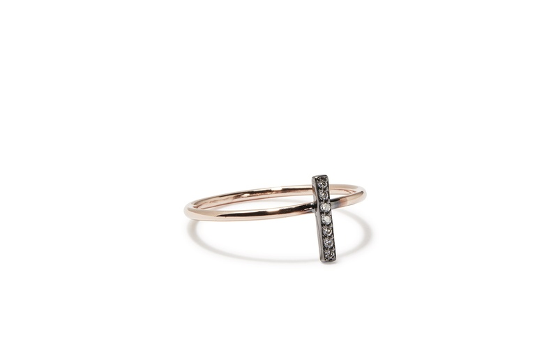TINY SPARKLE SINGLE BAR STACKABLE RING