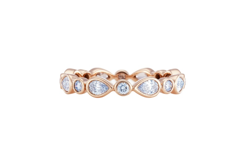 PETAL ROSE GOLD AND DIAMOND RING
