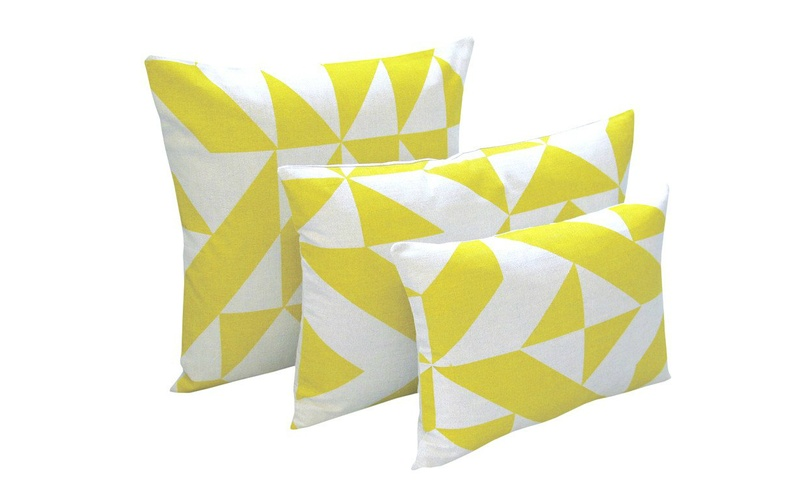 Yellow Angle Cushion