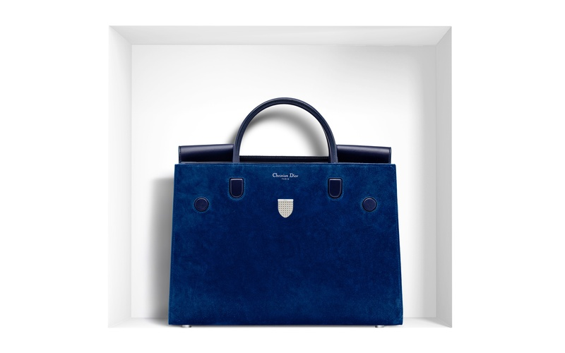 Large Diorever Bag in Pacific Blue Suede Calfskin