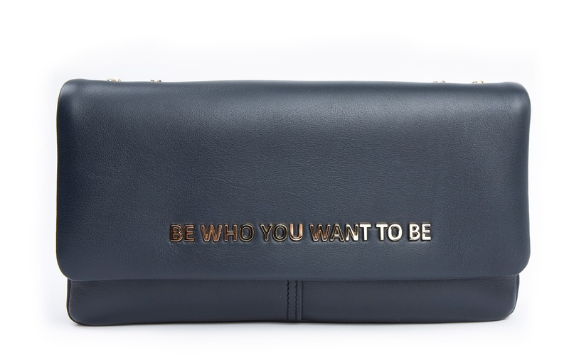 The Statement Purse - Navy