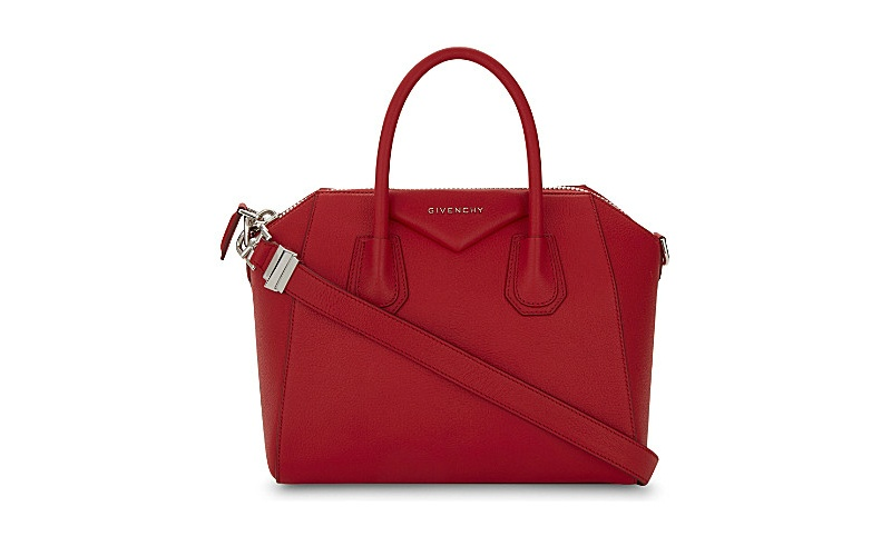 Antigona sugar leather tote red