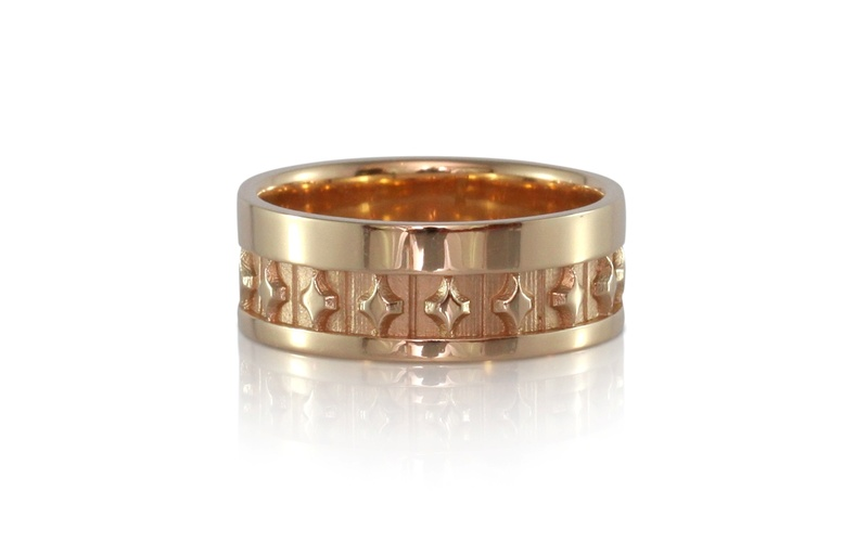 Men's Rose Gold Stardust Band
