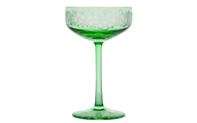 Isadora Champagne Saucers - Peridot
