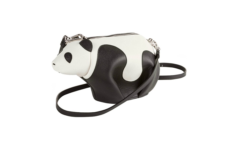 Panda Leather Cross Body Bag