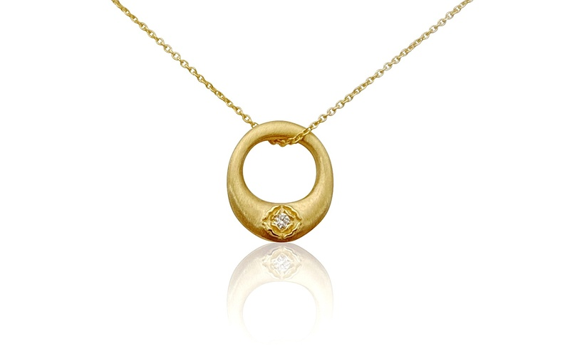 'Little Luca' 18 Carat Yellow Gold and Diamond Necklace
