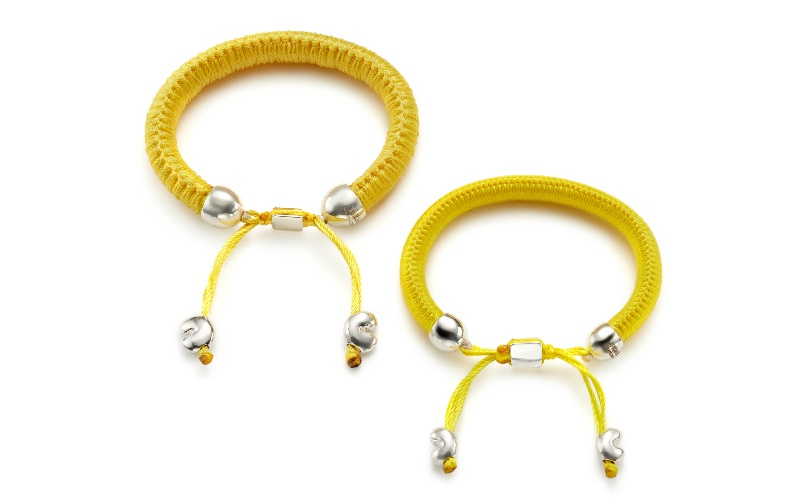 PC X URU BRACELET WITH BAOBAB SEEDS CANARY YELLOW