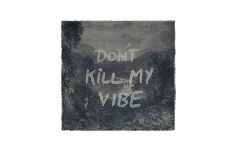 'Don't Kill My Vibe' Cashmere and Modal Scarf