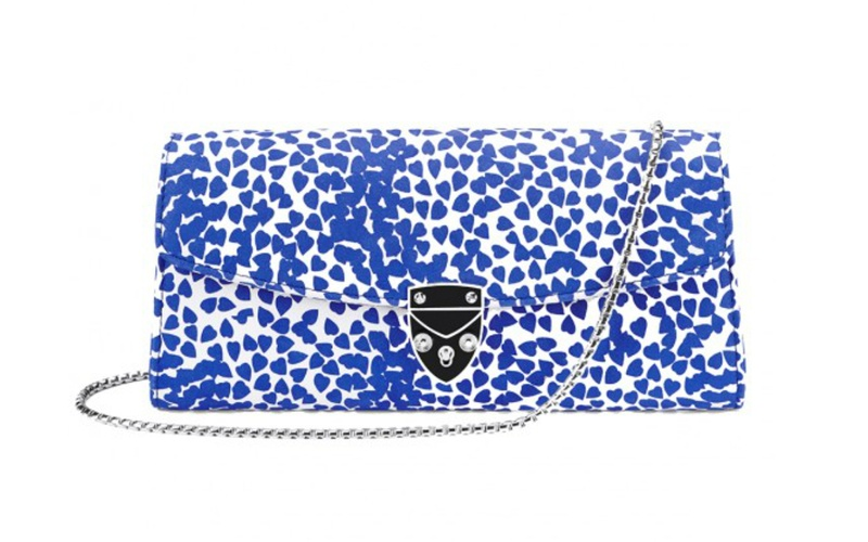 Blue Heart Aspinal Clutch Bag