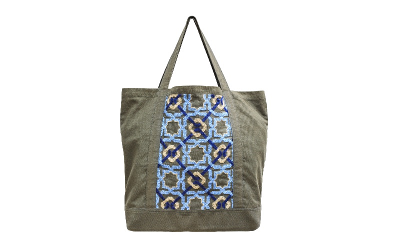 ALHAMBRA CANVAS BAG SEA