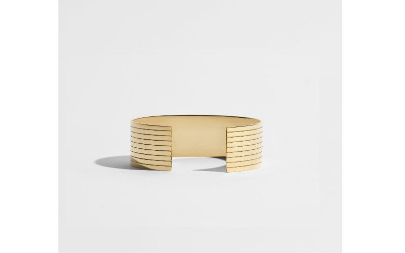 SILLONS CUFF BRACELET - 18 CARAT FAIRMINED GOLD