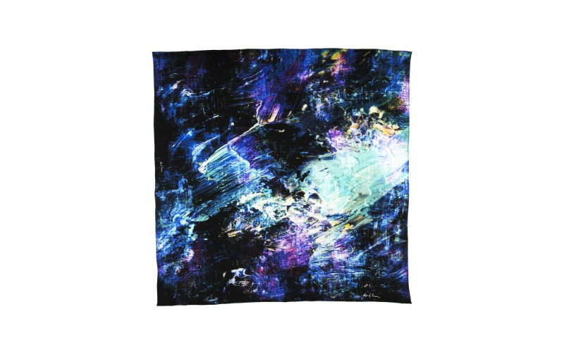 Abstract Oils silk scarf