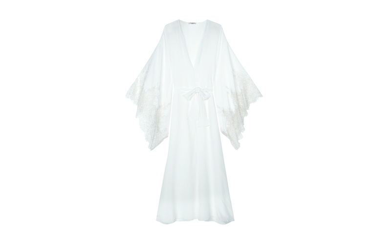 AURORA SILK AND LACE FULL LENGTH KIMONO