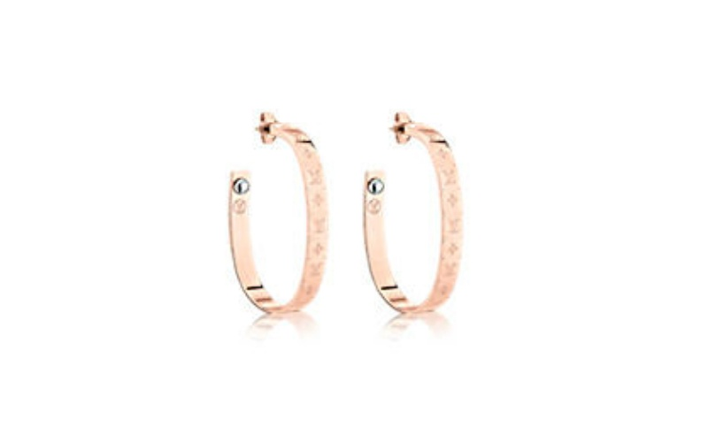 NANOGRAM HOOP EARRINGS