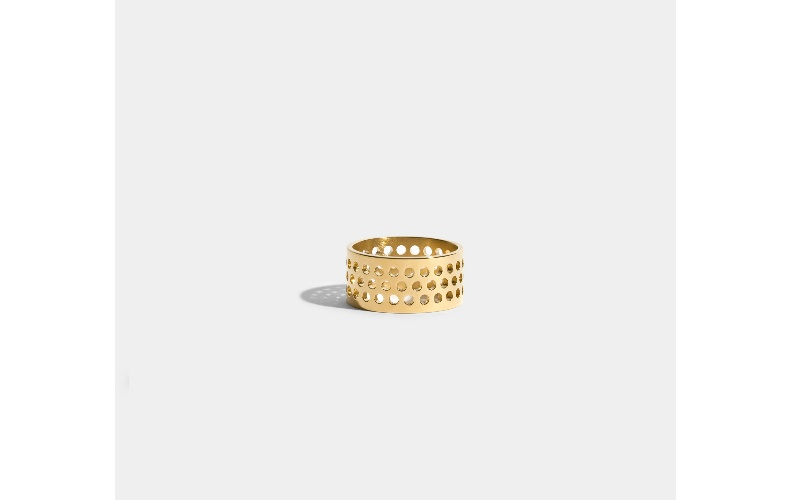 VOIDS RING - JEM BY INDIA MAHDAVI - 18 CARAT FAIRMINED GOLD