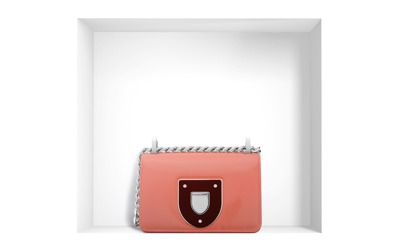 Diorama Club Bag in Glossy Terracotta Calfskin
