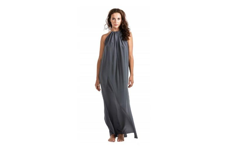 Silk Maxi Dress - Ash