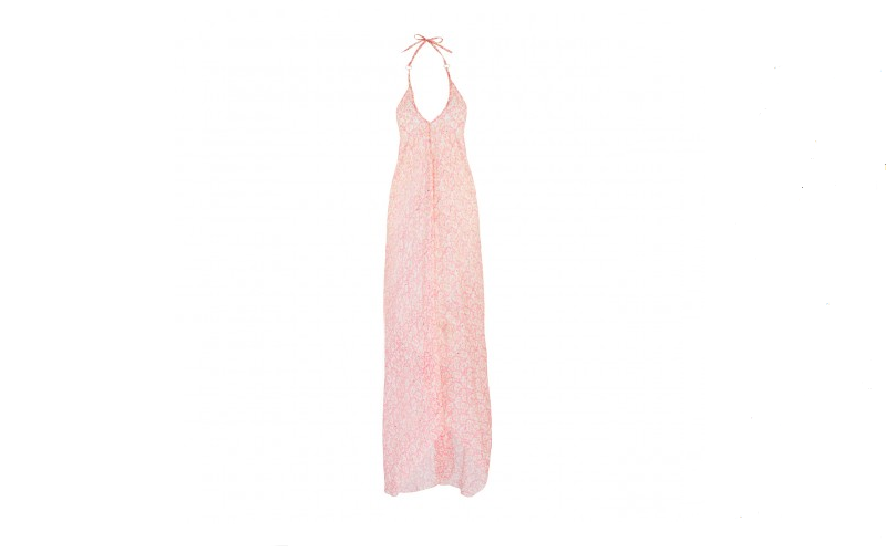 Scarf Dress in Pink Birds