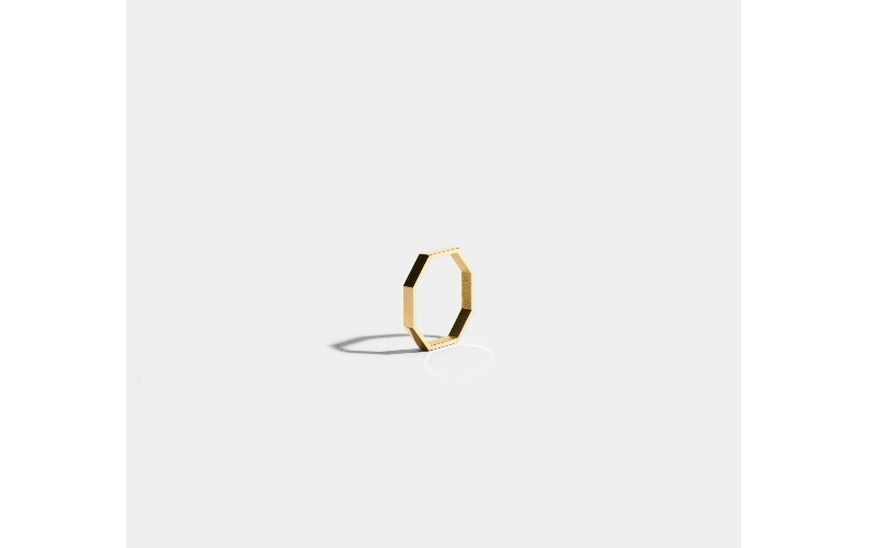 OCTOGONE RING - 18 CARAT FAIRMINED GOLD