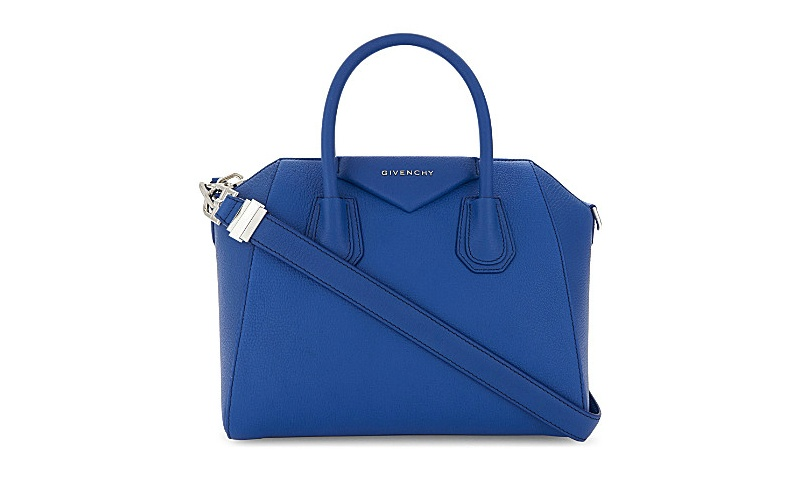 Antigona sugar leather tote indigo blue