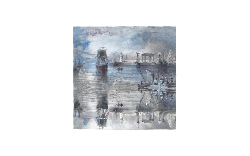 GREY SHIPS - SILK SCARF
