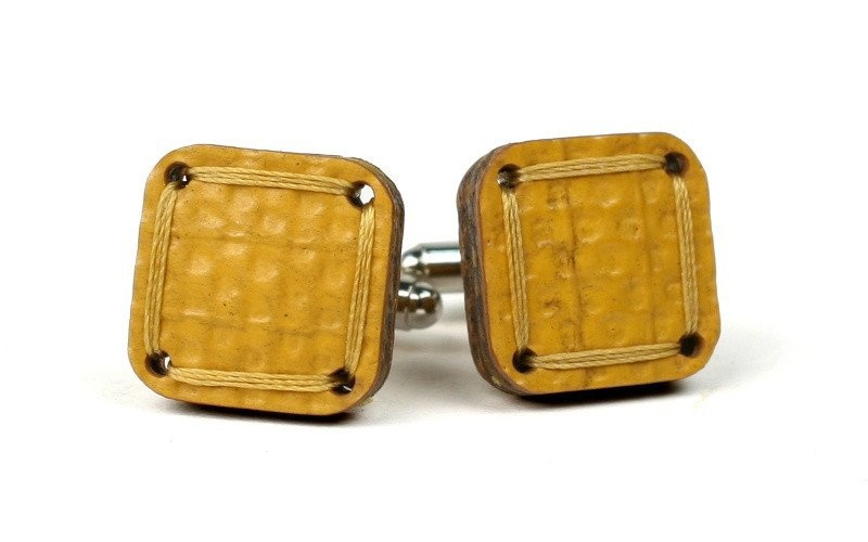 Yellow Reclaimed Cufflinks