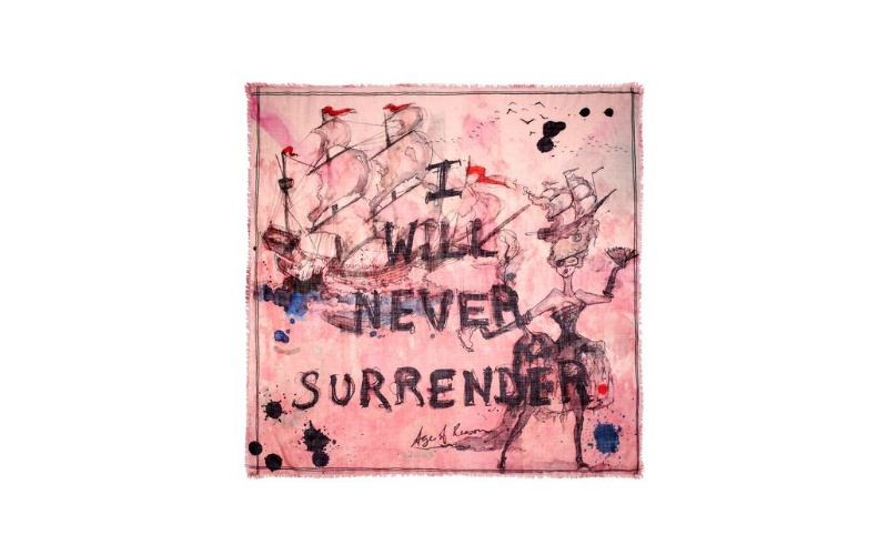 'I will never Surrender' Cashmere and Modal Scarf