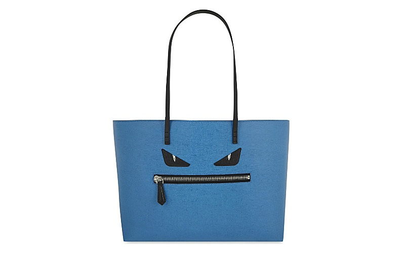 Monster leather tote