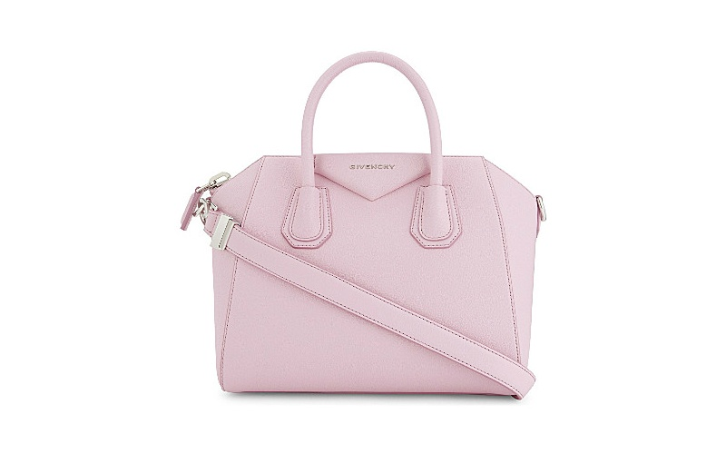 Antigona sugar leather tote pastel pink