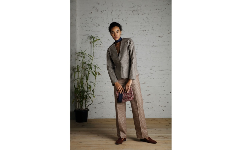 Woven Blazer and Trouser Suit